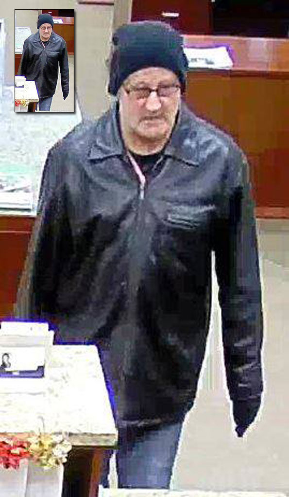 Bank Robbery Suspect Rolling Meadows December 13, 2018.