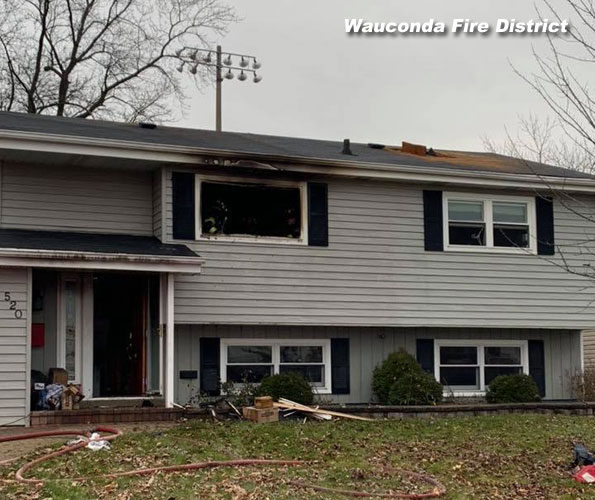 House Fire Wauconda Christmas December 25, 2018