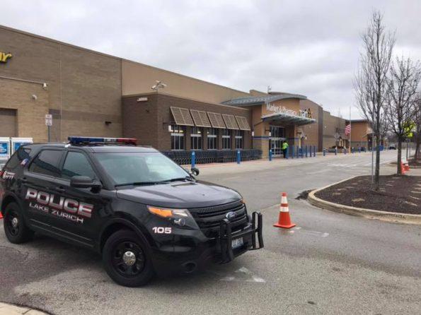 Lake Zurich Police Interceptor at Bomb Threat at Walmart