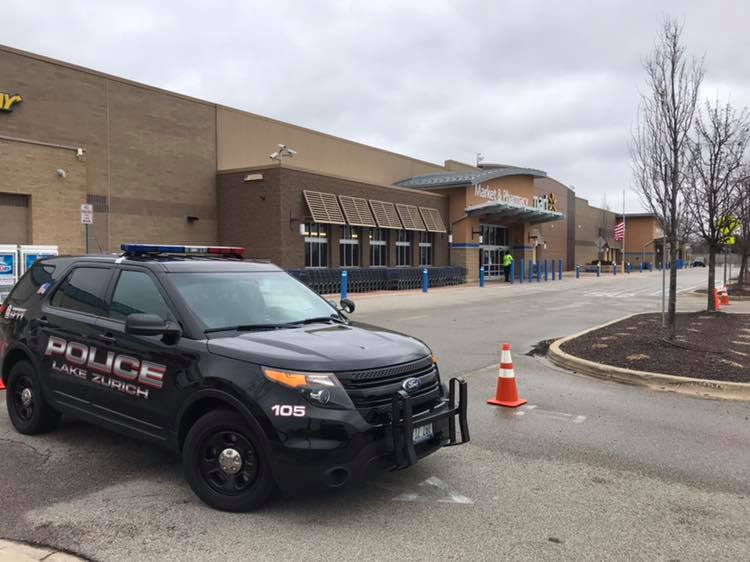 Lake Zurich Police Interceptor at Bomb Threat at Walmart