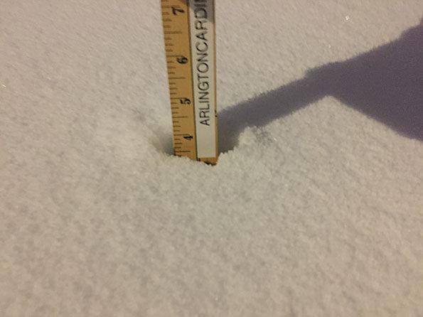 Snowfall measure Arlington Heights January 29, 2019 6:45 am