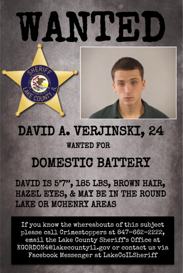 David Verjinski, Domestic Battery suspect