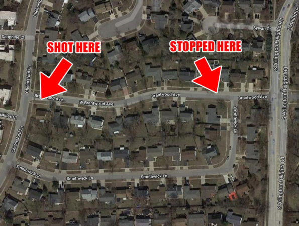 Shooting Map Brandtwood Ave Elk Grove Village