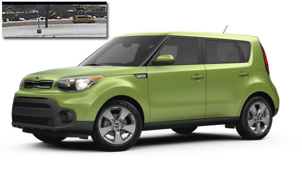 Kia Soul Oblique with Security image Arlington Heights suspect vehicle Attempted Child Luring