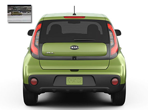 Kia Soul Rear View with Security image Arlington Heights suspect vehicle Attempted Child Luring