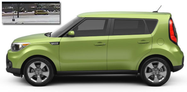 Kia Soul Side View with Security image Arlington Heights suspect vehicle Attempted Child Luring