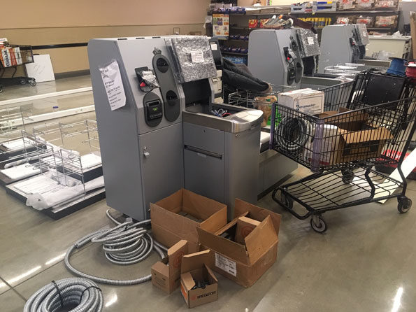 Mariano's Self Checkout under construction in Arlington Heights