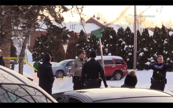 Palatine Police and CCSPD at shooting