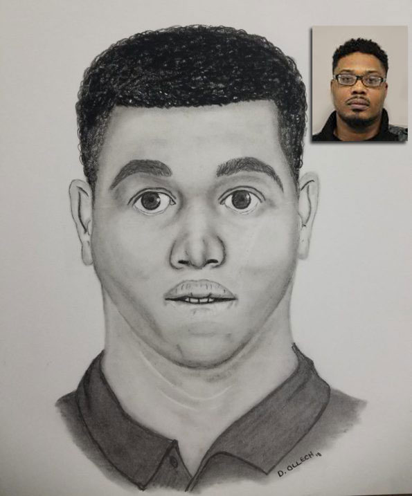 Thomas Gould suspect photo and sketch compared