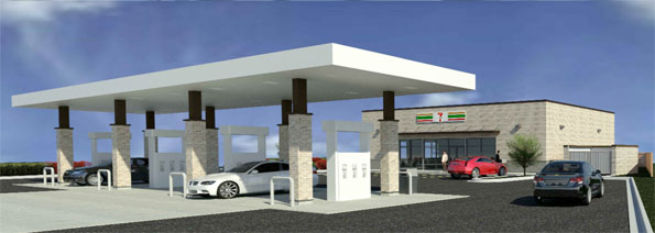 7-Eleven Gas Station exhibit