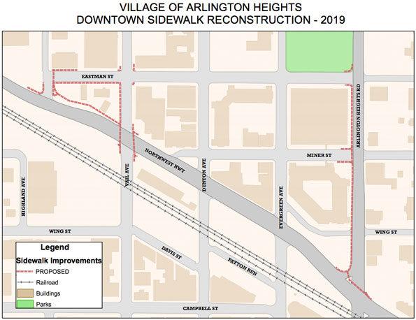 Arlington Heights Downtown Sidewalk Reconstruction