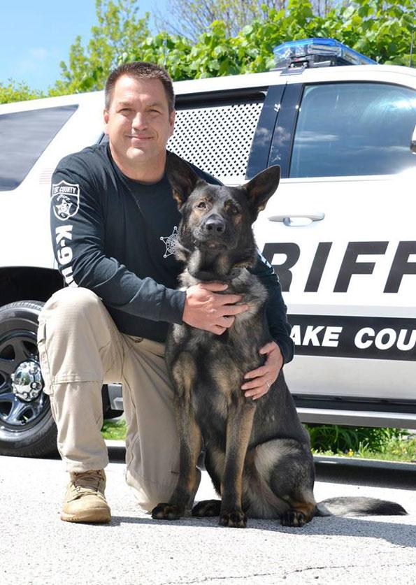 Deputy John Forlenza and K9 Dax.