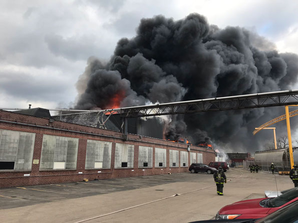 Factory Newly Weds Foods fire in Chicago