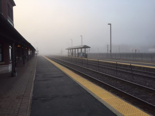Foggy Metra station