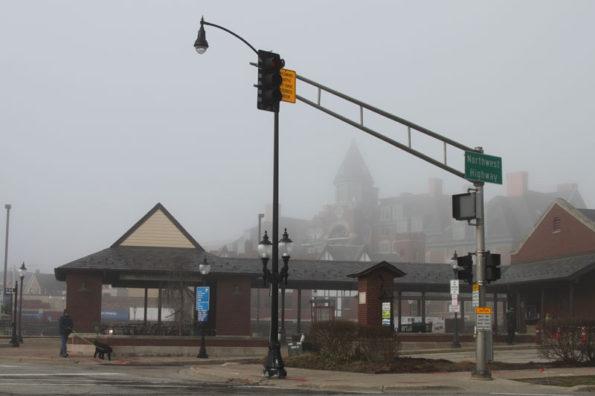 Northwest Highway Fog Lifting
