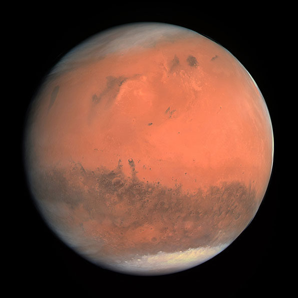 Mars taken by the OSIRIS instrument on the ESA Rosetta spacecraft February 2007