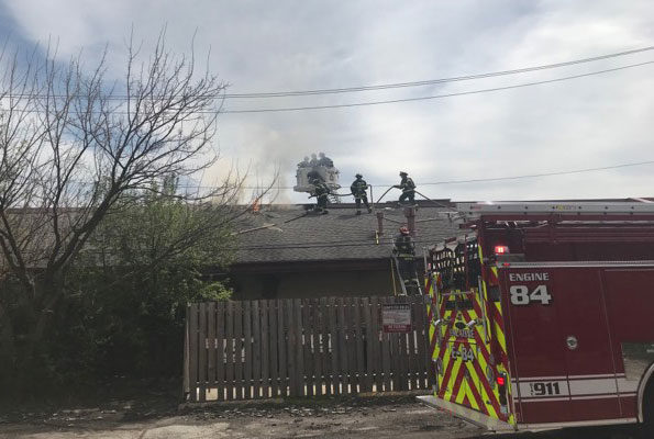 Roof Operations Egg'lectic Cafe Fire