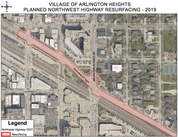 Northwest Highway resurfacing 2019
