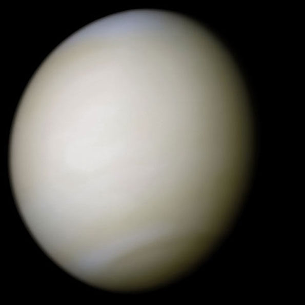Venus Real Color Image from Mariner 10, February 5, 1974