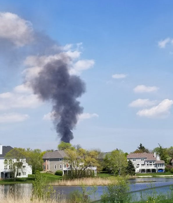 Deer Grove East Forest Preserve fire on Wednesday May 15, 2019