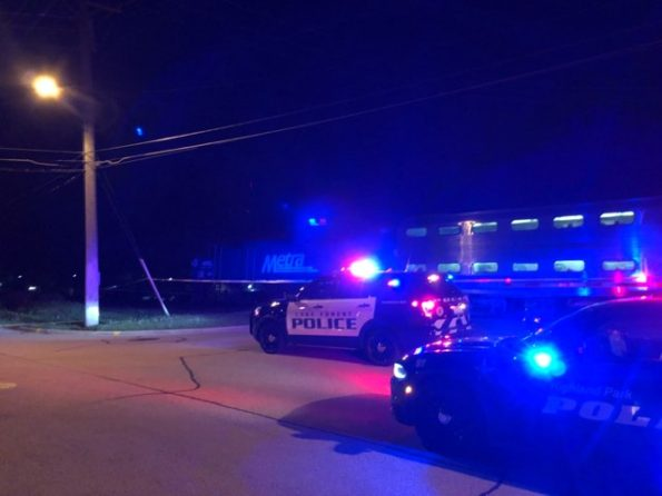 Metra train stopped for pedestrian hit in Highwood