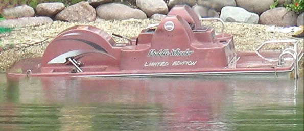 Capsized Paddle Wheeler Limited Edition paddle boat