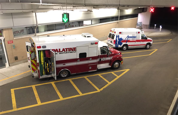Palatine Fire Department Ambulance at Northwest Community Hospital
