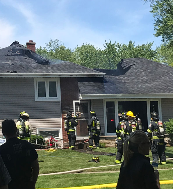 House Fire Green Lane in Mount Prospect Tuesday June 18, 2019