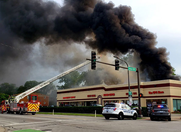 Laundromat fire Evanston on June 20, 2019