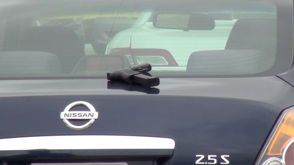 Handgun at Rolling Meadows shooting scene
