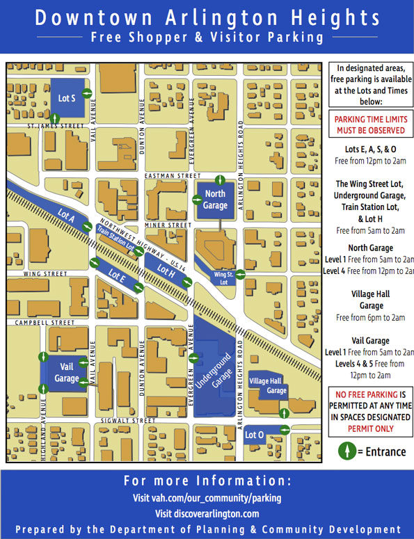 Downtown Parking Arlington Heights