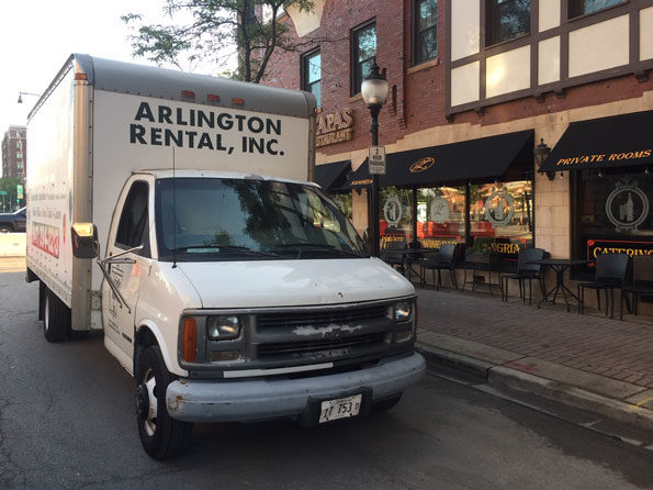 Arlington Rental Truck crew at Taste of Arlington Heights setup 2019