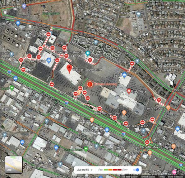 Google Map El Paso Shooting Traffic Layer