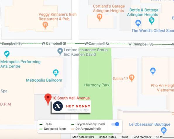 Hey Nonny Arlington Heights Map