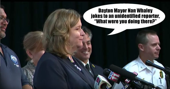 Nan Whaley jokes at mass shooting press conference August 4, 2019