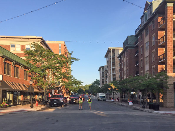 Clean streets for Taste of Arlington Heights 2019