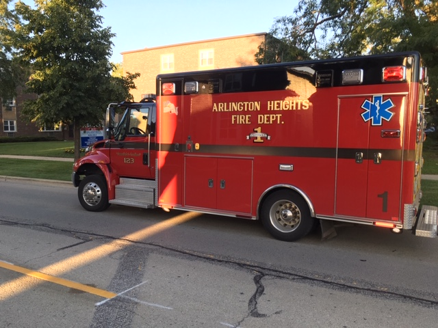 Ambulance 1 at Dryden Place Apartments Fire