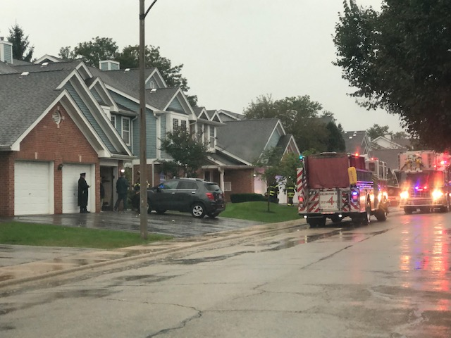 Lightning strike at townhouse with no fire in Arlington Heights