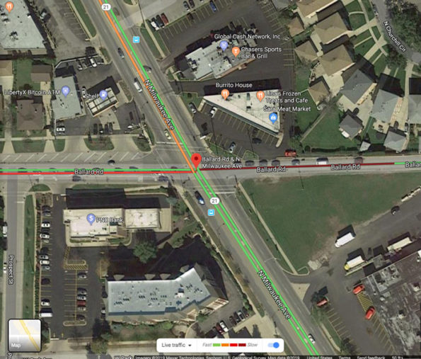 Milwaukee Rd and Route 21 traffic layer after crash  Thursday 10:05 p.m. Thursday September 12, 2019