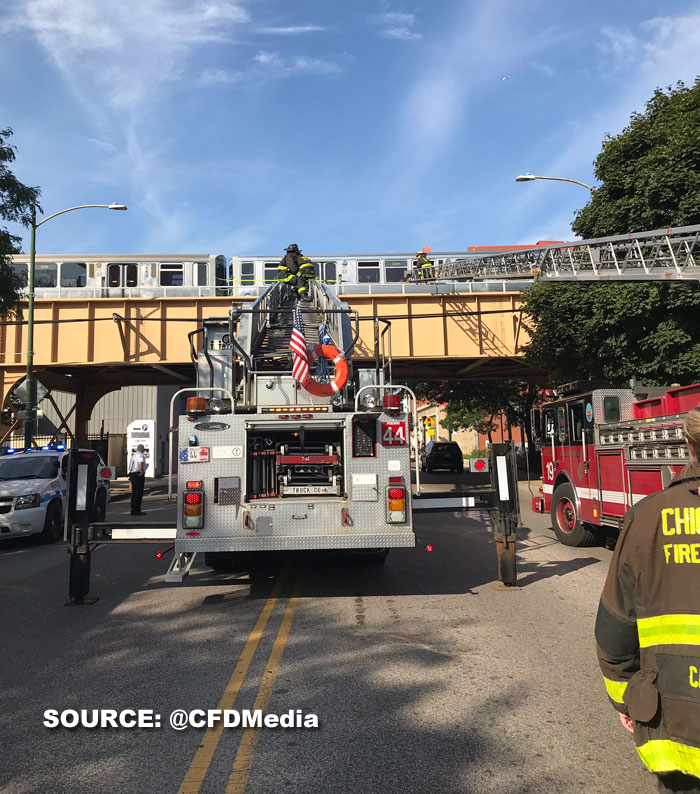Minor CTA train collision near Sedgwick station