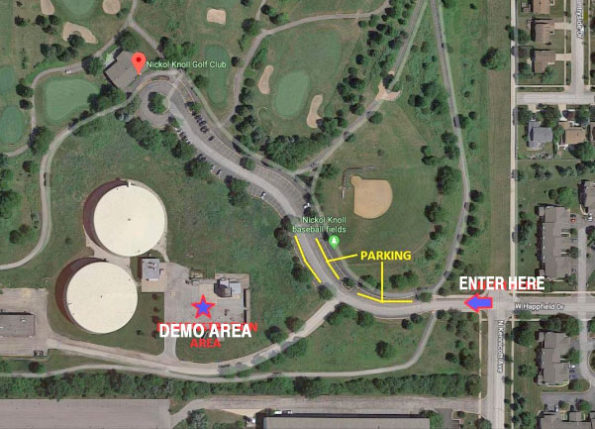 Map site for Arlington Heights Police and Fire drone demonstration