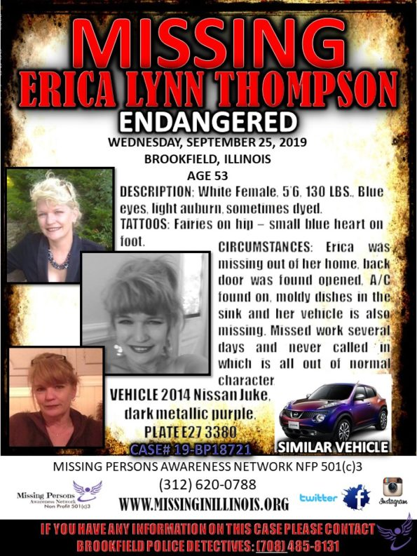 Erica Thompson Missing Poster