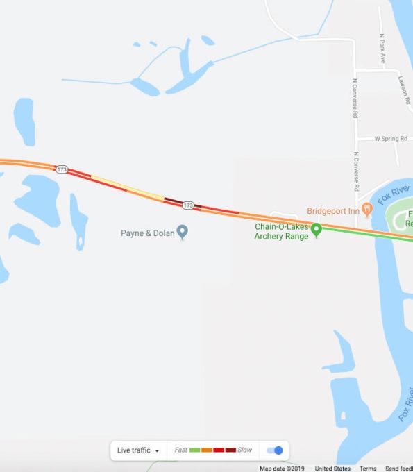 Police Pursuit crash Antioch map view