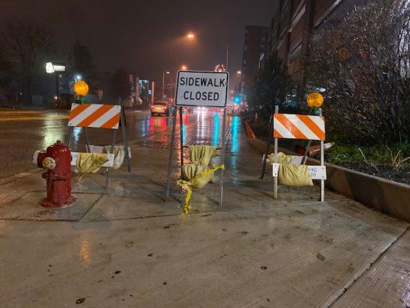 Sidewalk Closed on Arlington Heights Road south of Eastman Street