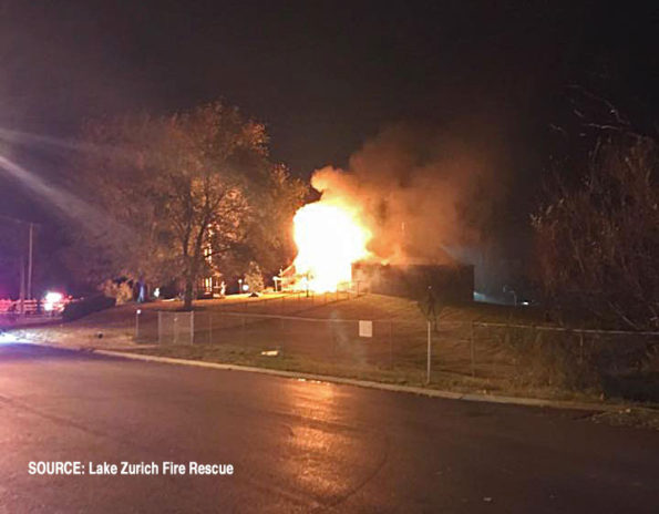 The Barn Paulus Park Fire -- fire scene at about 8:30 p.m. Saturday November 2, 2019