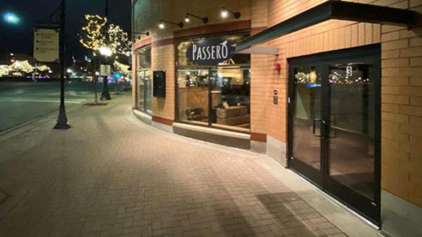 Passero, first night in new location in Arlington Heights December 12, 2019