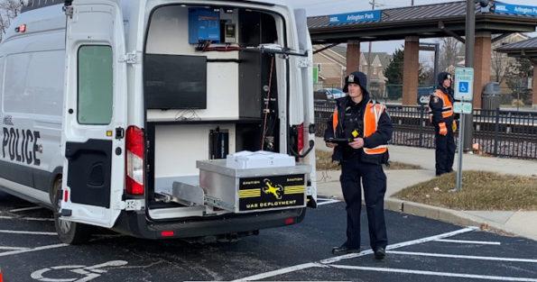 Metra Police fatal train vs pedestrian investigation at Arlington Park