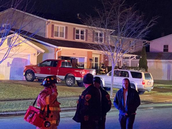 House fire on Locust Lane Mount Prospect December 12, 2019