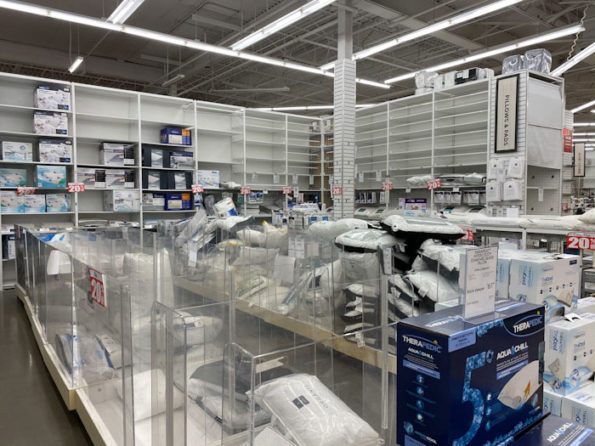 Bed Bath & Beyond emptying fast