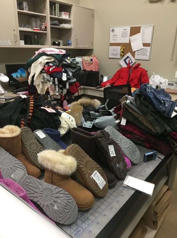 Clothing evidence inventory Lake County Illinois retail theft suspects